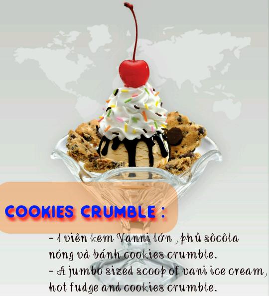 Trang trí ly kem kiểu Cookies Rumble