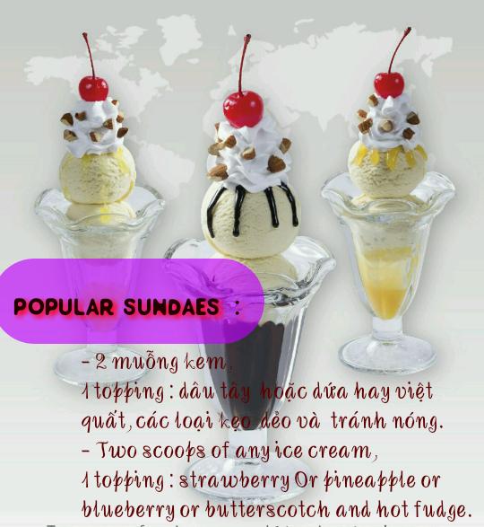 Trang tri ly kem kieu Popular Sundae